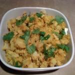 Adraki Gobi aloo (cauliflower potato stirfried with ginger)
