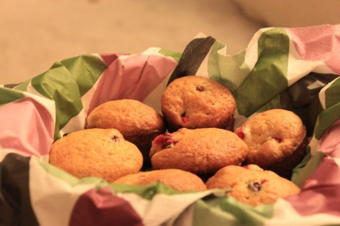 Spiced Cranberry muffins!