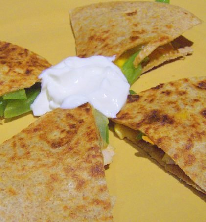 Grilled Veggie Quesadilla!