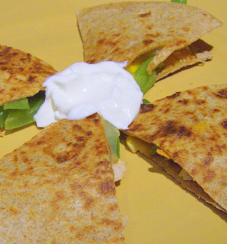 A simple and healthy grilled veggie quesadilla. So delicious, vegan and nut free recipe. Serve with guacamole, vegan sour cream, Salsa and Habanero Sauce! #glutenfree #veganricha #vegan