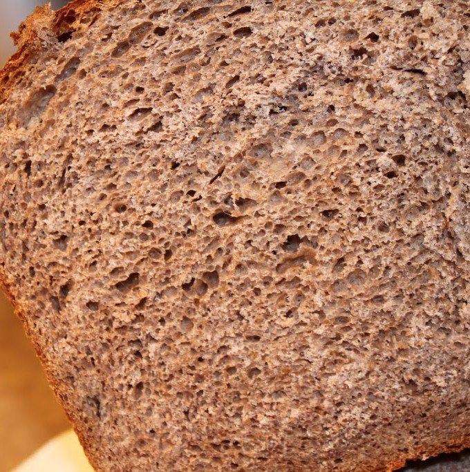 A loaf of indian gooseberry preserve wheat bread cut in half