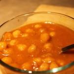 Chana masala in a glass bowl