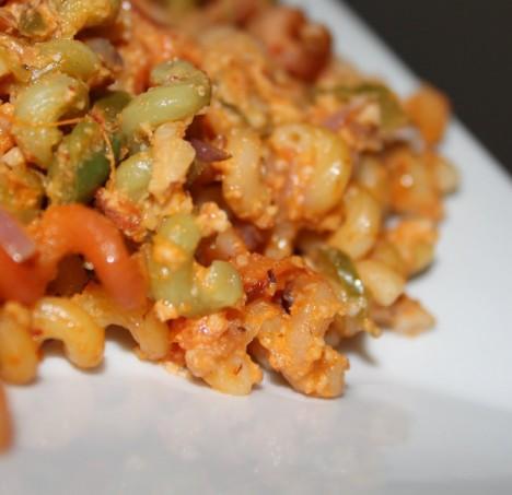 Pasta with Chipotle Cashew and Almond Cream! (Vegan)