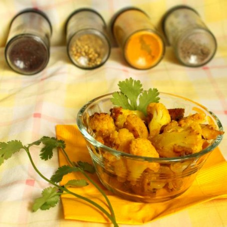 Gobi Aloo – Dhania Waale(Cauliflower Potato tempered with Cilantro and spices)