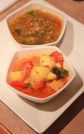 Potato in Tomato Curry.