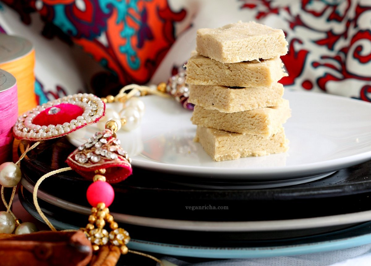 Vegan Kaju Katli - 20 minute Indian Cashew Fudge . Soft fudgy Cardamom Cashew Burfi #Vegan #glutenfree #recipe | VeganRicha