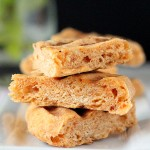 Tomato, wheat and sprouted quinoa Flat Bread. Vegan