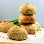 Garlic, Scallion, Jalapeno savory Buns/rolls. vegan