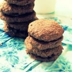 Chocolate whoopie pie cookies filled with spicy chile Chocolate Caramel! vegan