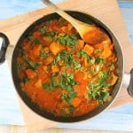 Kadai Gobi, shimla mirch, Tempeh(Tempeh, cauliflower, bell pepper in spicy tomato gravy) Vegan, glutenfree and holiday ideas!