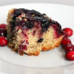 Cranberry Blueberry upside down cake! Vegan.