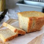 Gluten-free Vegan White Bread Loaf.  Gum-free