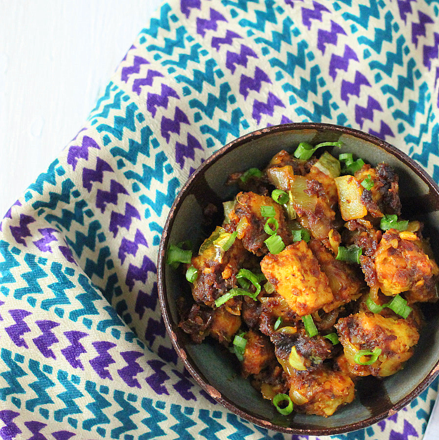 Tempeh Chili roast- Kerala Style
