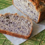 Blueberry Almond yeast Bread Loaf. vegan