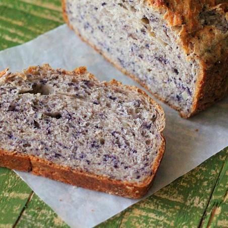 Blueberry Almond yeast Bread Loaf. vegan