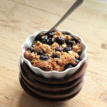 Baked French Toast topped with Blueberry Crisp. Vegan, easily GF. VSPCA FundRaiser Kickoff!