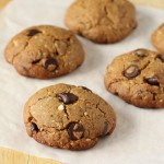 Almond oat cookies on parchment paper