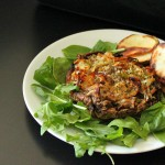 Portabella stuffed with Hash browns. Vegan Glutenfree recipe