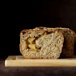 Apple Pie Swirl Multigrain Bread Loaf. Vegan recipe