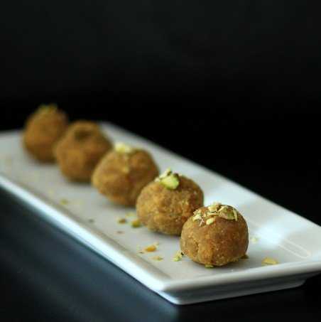 Besan Ladoo - Sweet Chickpea flour balls