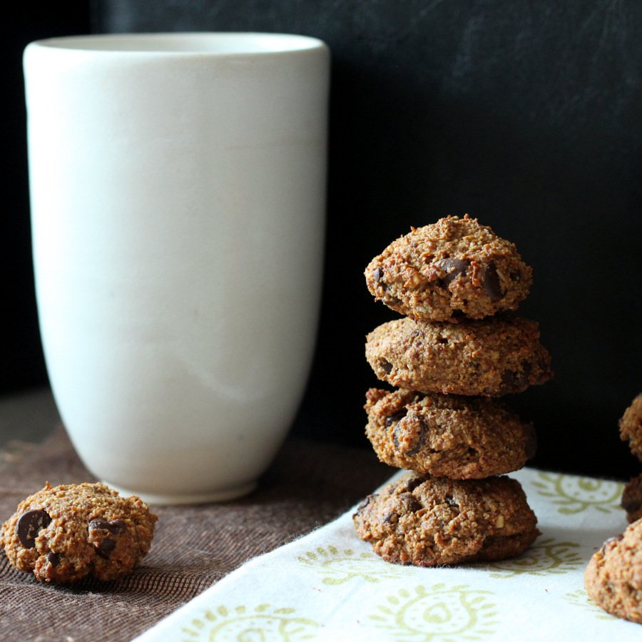 Ginger spiced Banana Almond Oat chocolate chip soft cookies