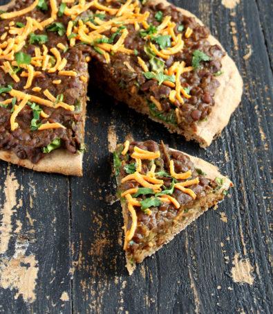 Missir Wot Pizza – Ethiopian Red lentil stew, Kale on Gluten free Teff Pizza Crust. vegan recipe