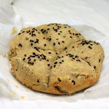 vegan gluten free rolls on parchment paper