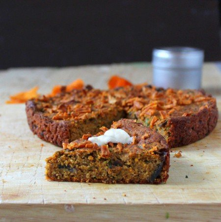 Gluten free Sweet Potato Cornbread with Mushrooms and Kale. vegan recipe