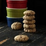 Oat Almond Chocolate Chunk Cookies and Cookie Mix in a Jar. Glutenfree Oilfree Vegan recipe