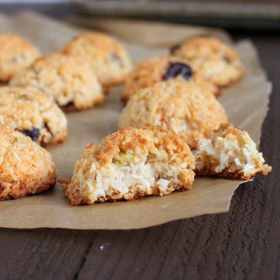 Zesty Coconut Macaroons with Cranberries and Pistachios ...