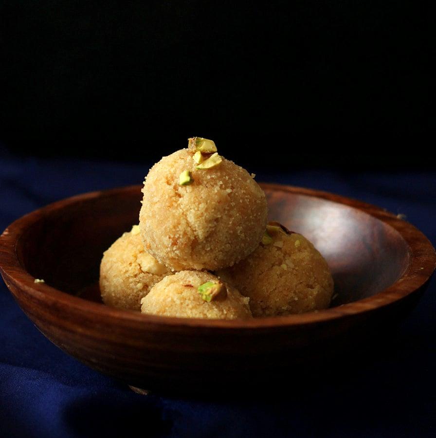 Vegan Richa: Coconut Rava Ladoo
