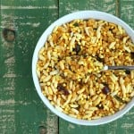 Quinoa Chivda – Savory Cereal/Trail Mix Snack with Puffed Quinoa, Brown Rice Krispies, Cashews, Walnuts, Cranberries and Raisins. Vegan Glutenfree Recipe