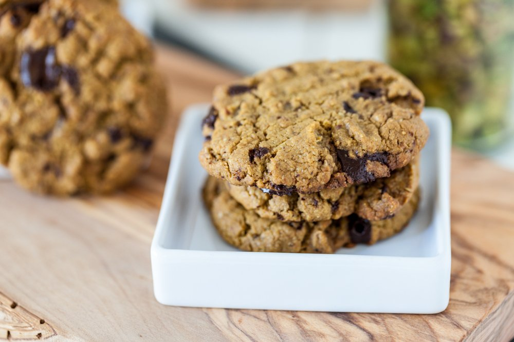 Pistachio Butter Chocolate Chunk Cookies