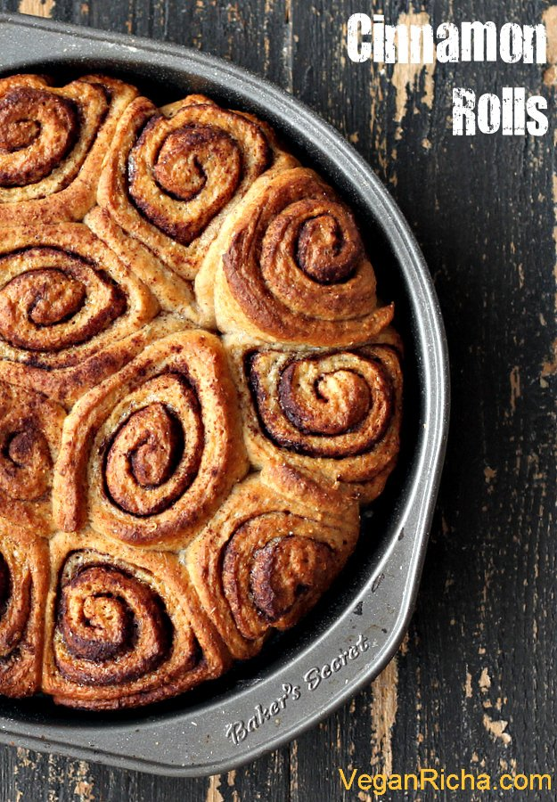 Vegan Cinnamon Rolls Pinterest Graphic