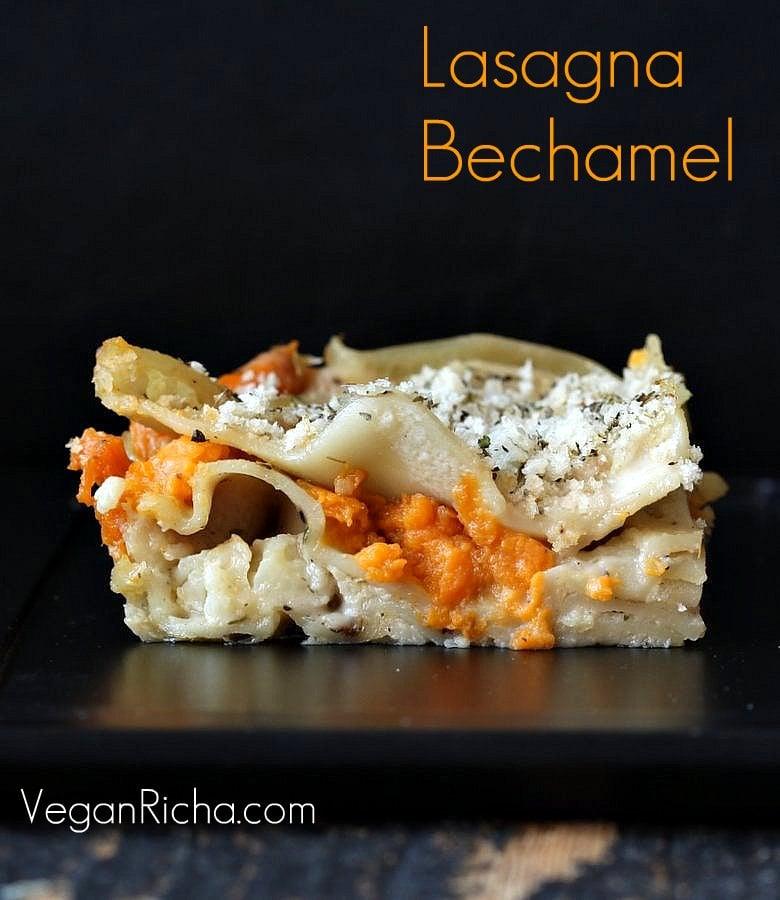 Vegan Lasagna Bechamel with Sweet Potato and Cauliflower   Vegan Richa