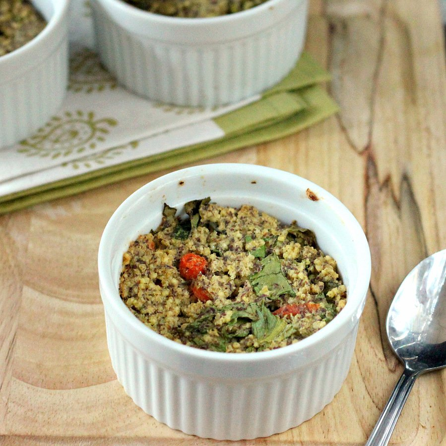 Millet Chard Carrot Breakfast Bake