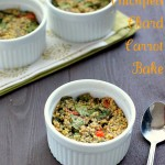 Millet Chickpea Chard Carrot Breakfast Bake. Vegan Glutenfree recipe