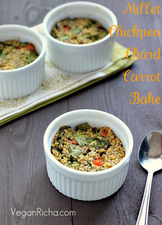 Millet Chickpea Chard Carrot Breakfast Bake | Vegan Richa