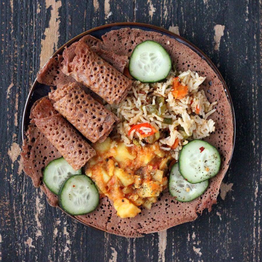 Ethiopian Injera 100 Teff Flatbread Vegan Glutenfree