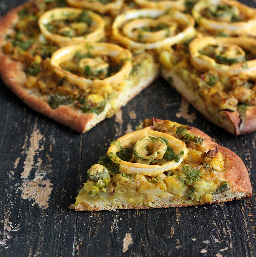 Vegan Samosa Pizza