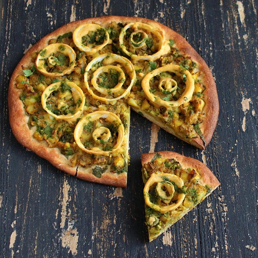 Vegan Richa: Samosa Pizza