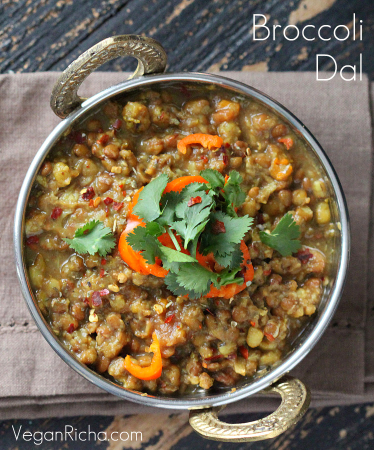 Broccoli Dal/Dahl. Mung Bean and Lentil Stew with Broccoli