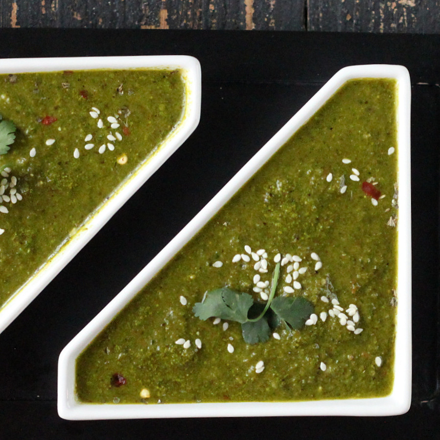 Kale Spinach ginger Miso Soup