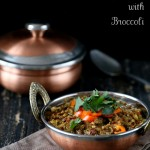Broccoli Dal. Mung Bean and Lentil Stew with Broccoli and Mini Peppers. Vegan Glutenfree Recipe