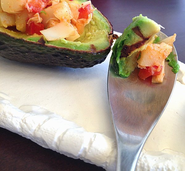grilled avocado with hearts of palm salsa - 4