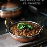 Black Eyed Pea Lentil Soup with Sriracha Tadka. Raungi aur Sabut Masoor Dal. Vegan Glutenfree Recipe