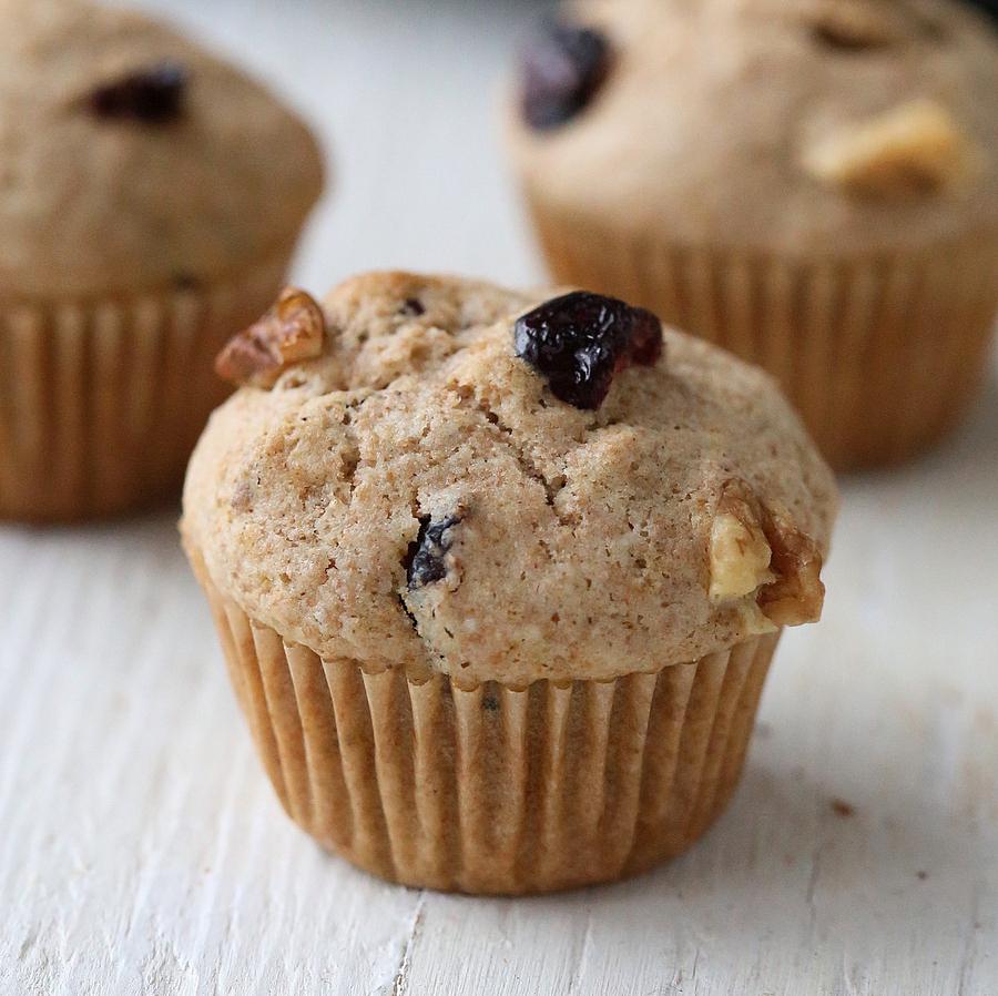 Cranberry Almond-Walnut butter Muffins from Nut butter Universe