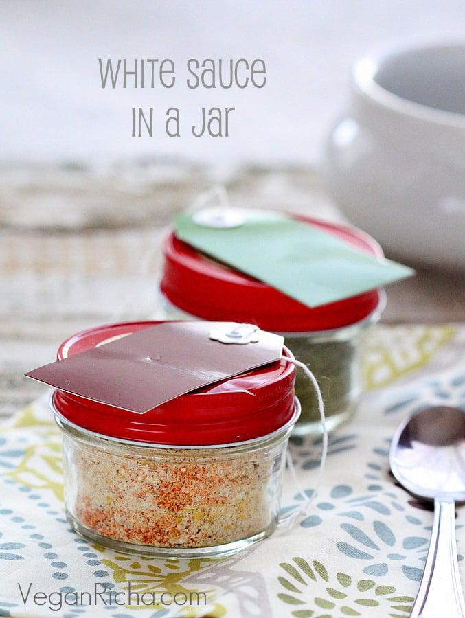 Creamy Pasta Sauce in a Jar. White sauce, Spicy Sriracha, Chipotle, Ranch, Mac 'n' Cheese   Vegan Richa