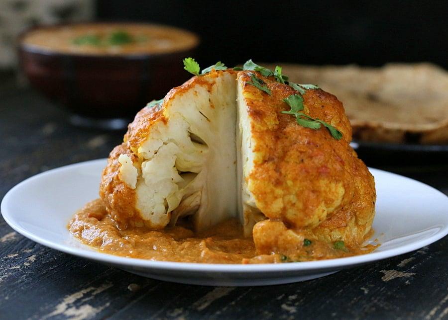 Gobi Musallam - Whole Roasted Cauliflower with Creamy Makhani Gravy