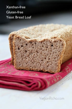 Gluten-free Strawberry Sandwich Bread Loaf. Xanthan-free Vegan Recipe